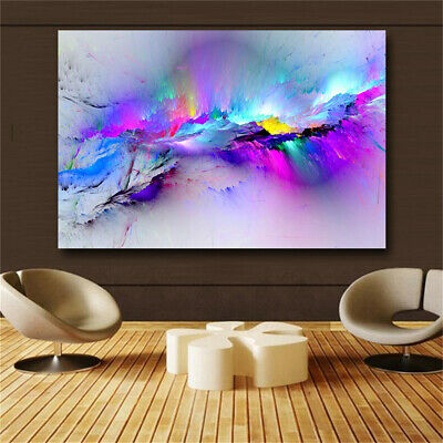 Oil Painting Wall Pictures For Living Room Home Decor Abstract Clouds Colorful