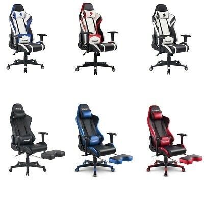 Sports Racing PC Gaming Chair Recliner Swivel Computer Desk Chair Faux Leather