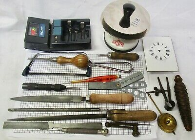 Collection of clockmakers tools. No reserve.