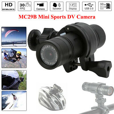 MC29B 1080P Action Camera Car Bike Motorcycle Helmet Flashlight Shape Camcorder