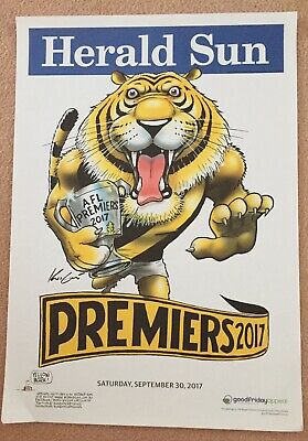 Herald Sun 2017 Richmond Premiers Poster And More Posters