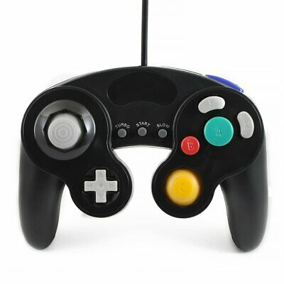 BLACK WIRED CLASSIC CONTROLLER JOYPAD GAMEPAD FOR NINTENDO GAMECUBE GC Wii