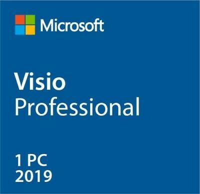 Instant MS Visio 2019 Pro Professional (32/64 bits) Product Activation [Key] 1PC