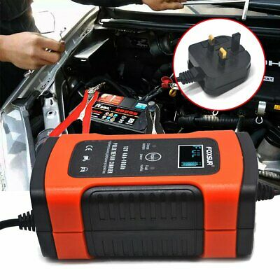 Automatic Intelligent Pulse Repair Type 12V 5A Car Battery Charger UK Plug V7.0