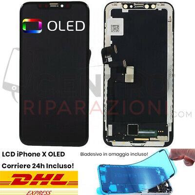 Display Lcd Touch Screen Frame Per Apple Iphone X 10 Oled Hd Schermo 3D Nero
