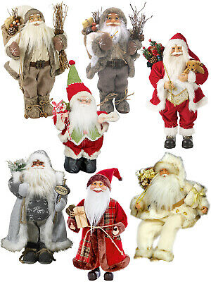 Deluxe Standing Santa Claus Figure Traditional Father Christmas Classic Xmas