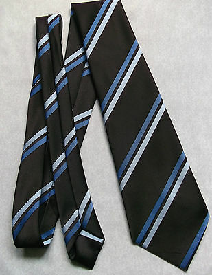 Vintage Tie MENS Necktie St Michael M&S Retro BROWN BLUE STRIPED