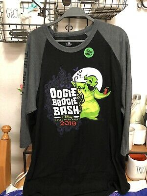 Disney California Adventure Oogie Boogie Bash Halloween 2019. AP Shirt. GITD 2XL