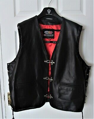 MENS  MOTORCYCLE LEATHER  WAISTCOAT  [Top Quality]