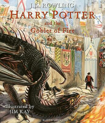 Harry Potter And The Goblet Of Fire By J.K. Rowling New Illustrated Edition Book