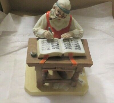 Norman Rockwell Figurine CHECKING HIS LIST Rockwell Museum IN BOX with COA