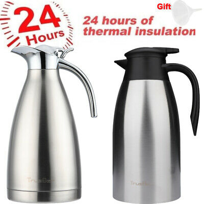 2L Vacuum Insulated Thermal Carafe Coffee Pot SUS 304 Stainless Steel 2 Types