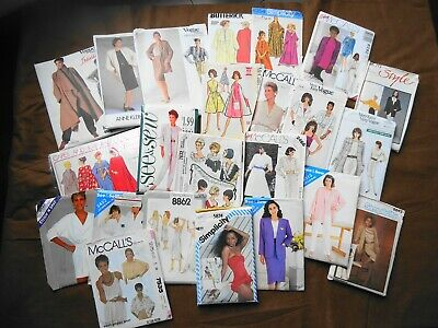 Lot 23 Womens Vintage Clothes Sewing Patterns Vogue McCall Simplicity Butterick