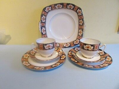 Royal Albert Imari Design, 2 Cups Saucers Side Plates and a Cake Plate 1917/20