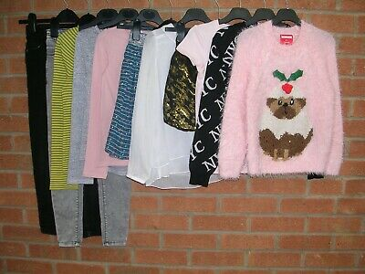 BLUEZOO FAT FACE GEORGE etc Girls Bundle Tops Skirt Jeans Jumpers Age 8-9 134cm