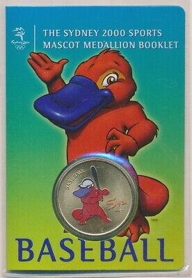"Australia: 2000 Olympic Baseball Medallion ""Syd"" Sports Mascot Booklet"