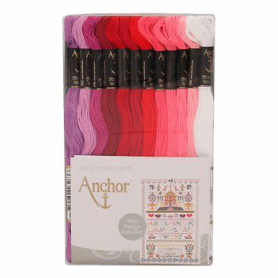Anchor 48 Skeins Stranded Egyptian Cotton Club Assortment Embroidery Thread Set