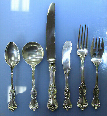 Reed & Barton Marlborough 82pcs Sterling Silverware 6-Pc Luncheon Service for 12