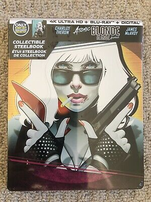 Atomic Blonde SteelBook 4K UHD + Blu-Ray - Region Free - NEW, Sealed