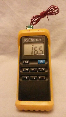 Type K - Two Channel Handheld Thermometer Reader
