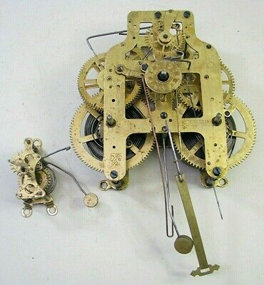 Antique Seth Thomas Kitchen Clock Movement With Alarm Parts Repair