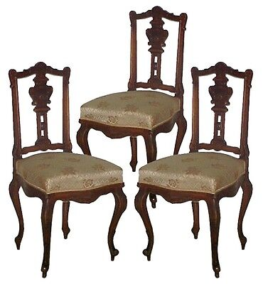 Set of Three 19th C. French Rosewood Side Chairs  1800-1899 #5048B