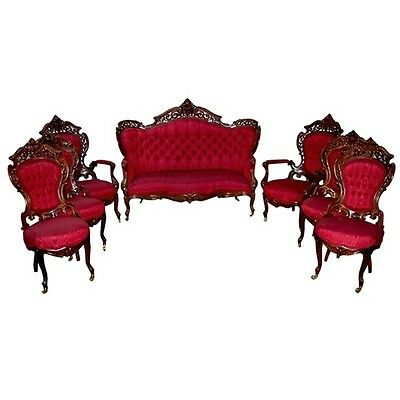 Victorian Stanton Hall Parlor Set by J. Meeks 1800-1899 #7303