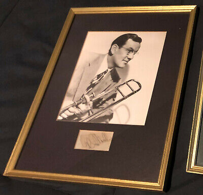 Glenn Miller cut signature framed with photo Big Band Great Died 1944