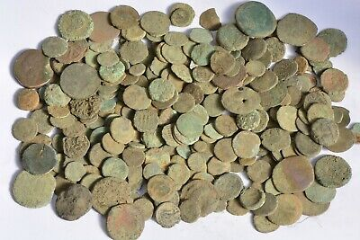Lot 247 Roman Greek Byzantine bronze coins FOR CLEANING 400 BC - 700 AD
