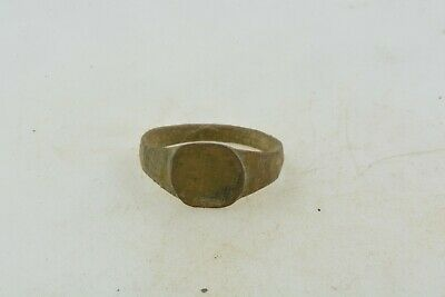 Antique Roman Byzantine Medieval bronze child ring 100-1200 AD #32 Size 3 1/2