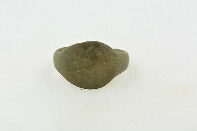 Antique Roman Byzantine Medieval bronze ring 100-1200 AD #7 Size 7 1/2