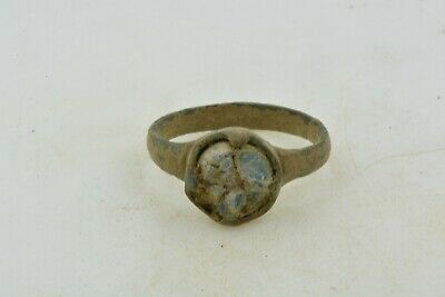 Antique Roman Byzantine Medieval bronze ring 100-1200 AD #28 Size 7 1/4