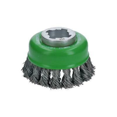 Bosch WBX329 3 Inch Cup Brush X-Lock Knotted Stainless Steel
