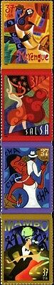 2005 37c Let's Dance, Latin Dances, Strip of 4 Scott 3939-42 Mint F/VF NH