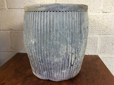 50cm Reclaimed Vintage Old Traditional Rustic Galvanised Dolly Wash Tub Planter