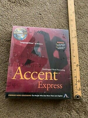 ACCENT  Multilingual WP for Windows 95 > WORD PROCESSING Express new