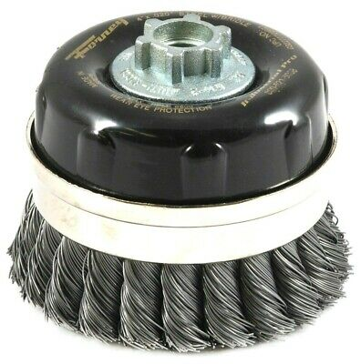 NEW Forney 5/8 in. x 4 in. Dia. Steel  Cup Brush  Knotted  1 pc.