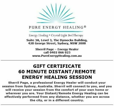 60 Minute Distant Healing Session GIFT CERTIFICATE