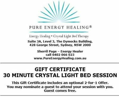 30 Minute Crystal Light Bed Session GIFT CERTIFICATE INCLUDES BONUS 2FOR1 OFFER