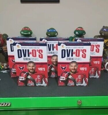 Ovi O's Alex Ovechkin Cereal Giant Exclusive Limited Edition 5 Boxes