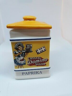 "Franklin Mint The Country Store Crystal Domino Sugar ""PAPRIKA""  NICE"
