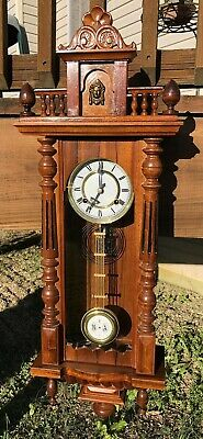 Pendulum Wall Clock Working Beautifully In Walnut Cleaned And Serviced