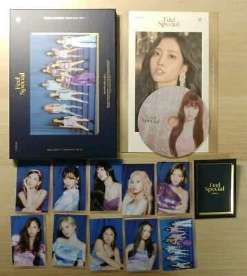 Twice Feel Special Blue Ver with Preorder Photocard Set +  Momo CD + Momo Lyric