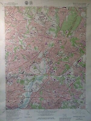 Washington East DC Maryland 1979 ORIGINAL TOPOGRAPHIC QUADRANGLE MAP 22X27""