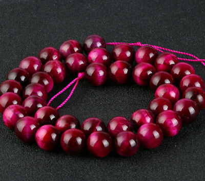 Natural Gemstone Round Rosered Tiger Spacer Loose Beads 4 6 8 10 12mm Stones