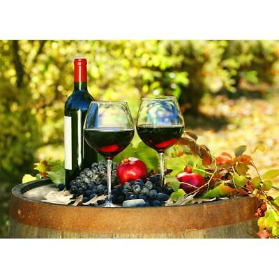 5D DIY Full Drill Diamond Painting Red Wine Fruits Cross Stitch Embroidery  K1B