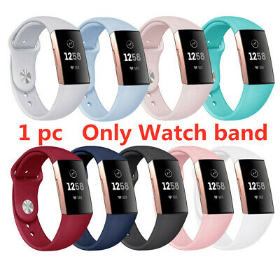 For Fitbit Charge3 Watch Band Strap Replacement Wristband Soft Silicone Bracelet