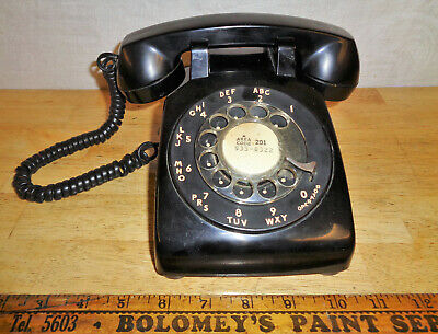 Vintage 1975 Rotary Telephone Bell Systems 500 - Black - TESTED - USA