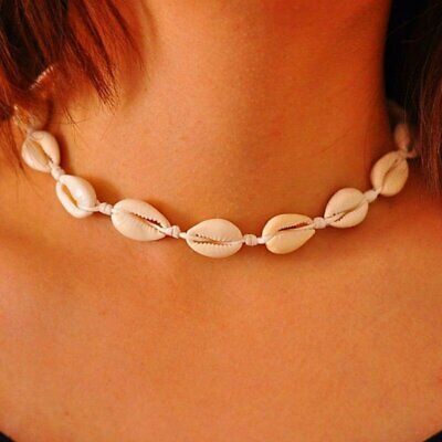 Women Beach Sea Shell Cowrie Pendant Choker Lucky Rope Necklace Jewelry Gift AU