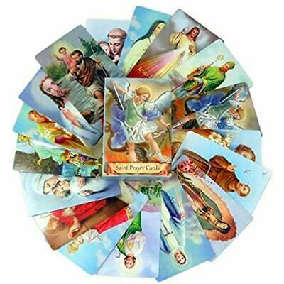 Pack Of 54 Assorted Holy Cards With Catholic Saints And Prayers Greeting Office